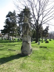 All Saints Parish Cemetery Chicago IL April 22nd 2013 WOW tree stump angel cross 001